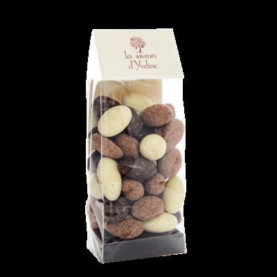 Migdale invelite in Ciocolata asortata