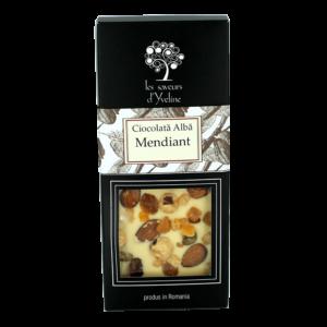 Tabletă de ciocolată albă mendiant
