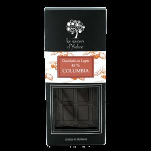 Tabletă de ciocolată columbia 45% cu lapte