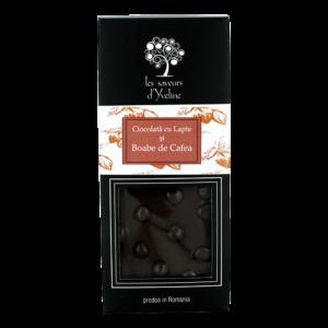 Tabletă de ciocolată cu lapte și boabe de cafea