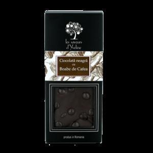 Tabletă de ciocolată neagră cu boabe de cafea