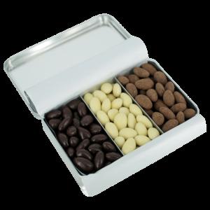 Migdale în ciocolată asortate 300g